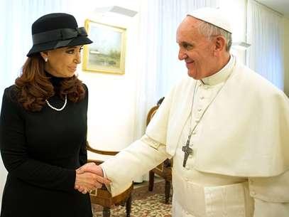 El Papa junto a CFK, en el Vaticano Foto: AP