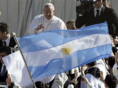 El papa Francisco en la inauguración de su pontificado en la plaza de San Pedro Foto: AP