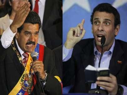 Maduro y Capriles en pugna por el sillón presidencial. Foto: AP