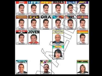 Nicolás maduro es el único candidato que aparece más de una vez en la boleta. Foto: CNE