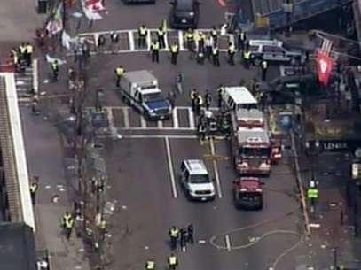 Dos personas, hasta el momento, han muerto tras las dos explosiones en Boston. Foto: AP