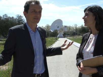 Pedro Duque durante la entrevista en la Agencia Espacial Europea Foto: Terra