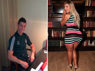 Cristiano Ronaldo photographed at the Villa Magna Hotel (l) and Andressa Urach, aka Miss BumBum (r).  Foto: Facebook/Daily Mail