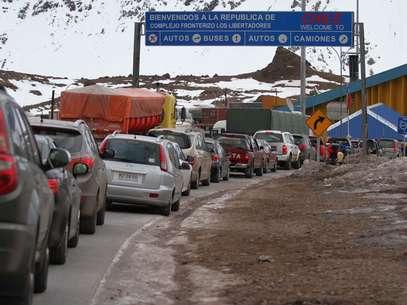 Permanecía cerrado desde el viernes pasado debido a la intensa caída de nieve en la zona cordillerana. Foto: Agencia Uno