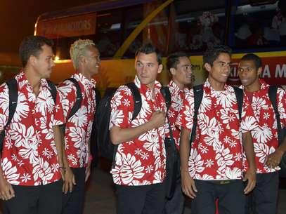 Los tahitianos llegaron este viernes a Belo Horizonte. Foto: AFP