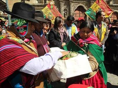 """Bolivia prepara una ley para proteger a etnias """"en peligro de extinción"""" Foto: Agencia EFE / © EFE 2013. Está expresamente prohibida la redistribución y la redifusión de todo o parte de los contenidos de los servicios de Efe, sin previo y expreso consentimiento de la Agencia EFE S.A."""