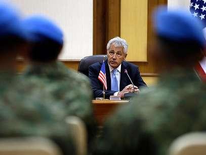 El secretario de Defensa de Estados Unidos, Chuck Hagel, dijo que las fuerzas militares están listas para atacar Siria inmediatamente si el presidente Barack Obama da la orden. Foto: AP