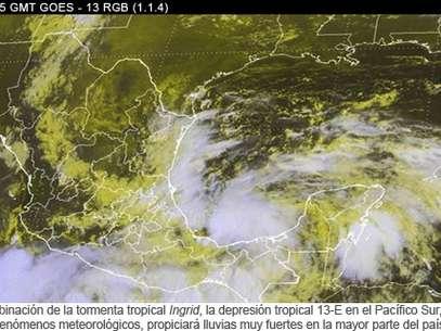 Ingrid, la novena tormenta tropical de la temporada de huracanes en el Atlántico, presentaba vientos sostenidos de 75 kilómetros por hora. Foto: Conagua / Especial