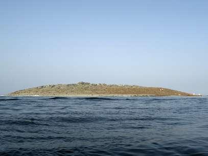 La isla que surgió en la costa de Gwadar en Pakistán tras el terremoto del 24 de setiembre de 2013. Foto: STRINGER/PAKISTAN / REUTERS
