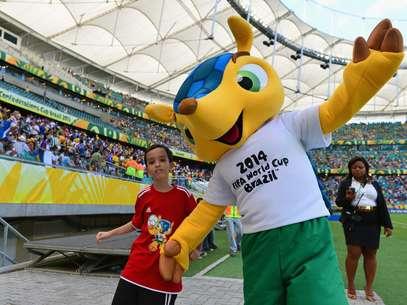 Fuleco, mascota de Brasil 2014 Foto: Getty Images
