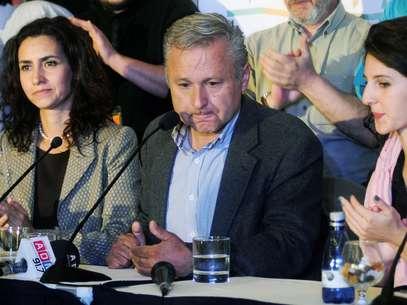 Marcel Claude en momentos que reconoció su derrota en las elecciones presidenciales. Foto: UPI