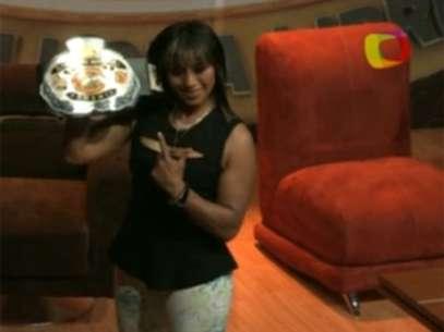 Marcela, quien por tercera ocasión es campeona del CMLL. Foto: Especial