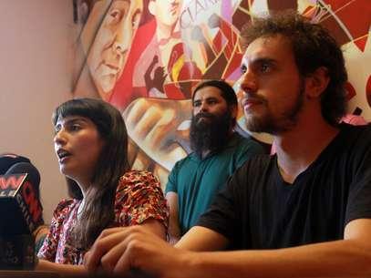 Melissa Sepúlveda y Javier Miranda, integrantes de la mesa directiva Confech Foto: UPI