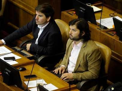 Diputados Giorgio Jackson y Gabriel Boric. Foto: Agencia UNO