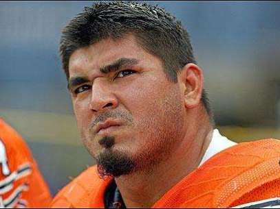 Roberto Garza, liniero ofensivo de los Osos de Chicago Foto: Getty Images / Terra Networks México S.A. de C.V.