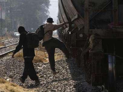Migrantes en su paso por México. Foto: Notimex / Terra Networks México S.A. de C.V.