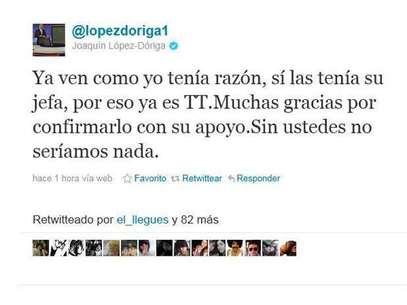Joaquín López Dóriga insulta a seguidor en Twitter. Foto: Tomada de Internet / Terra Networks México S.A. de C.V.