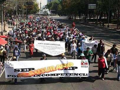 Se prevé que unos 100 mil maestros, 40 mil de la Ciudad, participen en la manifestación. Foto: Reforma