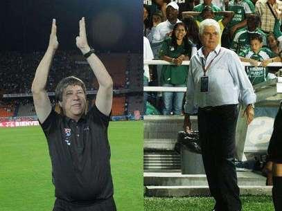 Hernán Darío Gómez, DT del DIM y Julio Comesaña técnico del Deportivo Cali Foto: Terra