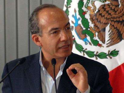 El presidente Felipe Calderón Foto: Archivo Web.