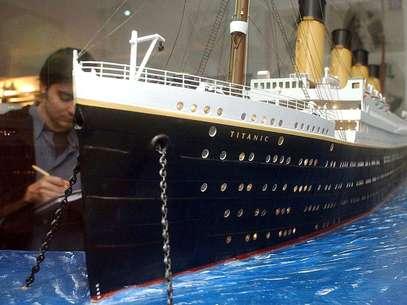 Maqueta del transatlántico en la exposición 'Titanic. The Exhibition'. Foto: EFE