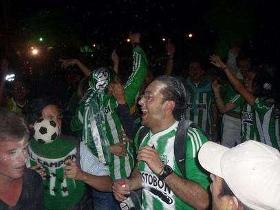 Hinchas de Atlético Nacional.