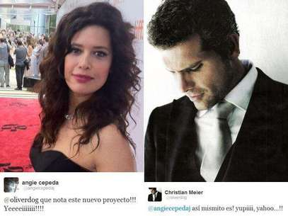 Angie Cepeda y Christian Meier. Foto: Twitter Oficial