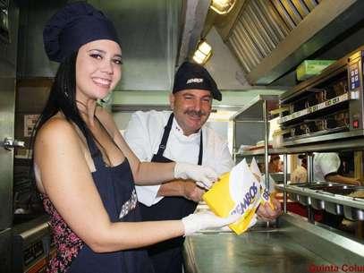 Lucía Oxenford y el chef Adolfo Perret. Foto: Difusión