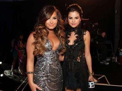 Demi Lovato y Selena Gomez, las mejores amigas. Foto: Getty