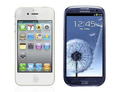 iPhone 4S vs Galaxy SIII Foto: reproducción