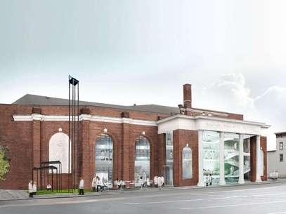 Una imagen creada por computadora proporcionada por OMA muestra el proyecto de un centro de performances de larga duración de 15 millones de dólares de la artista Marina Abramovic.  Foto: OMA / AP