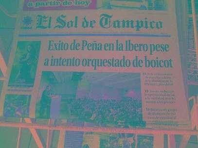 Tuiteros han difundido imágenes de las primeras planas de los diarios pertencientes a la OEM en la que resaltan los titulares de éstos. Foto: Tomada de Twitter.