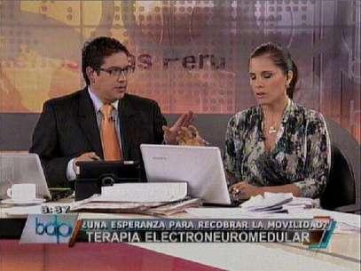 Jaime Chincha y Claudia Cisneros en BDP. Foto: Reproducción