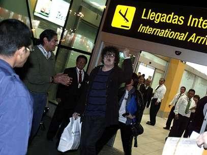 Charly García ya está en Lima Foto: Paty Altamirano / Terra Perú