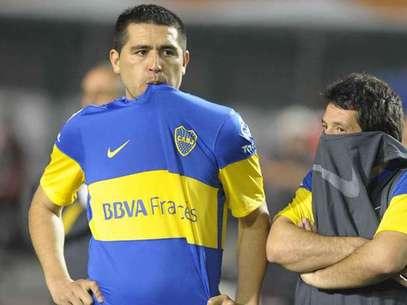 Juan Román Riquelme jugó en la derrota de Boca 2 a 0 ante Corinthians en Brasil por la final de la Copa Libertadores y esa fue su despedida del club de sus amores Foto: Agencias