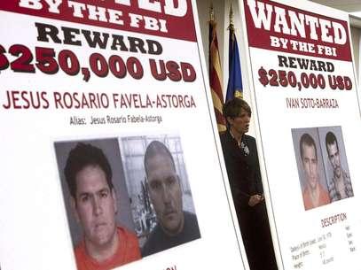 Laura E. Duffy, fiscal federal del distrito sur de California, al divulgar las identidades de cuatro hombres acusados de participar en la muerte de un agente de la Patrulla Fronteriza hace 18 meses, el lunes 9 de julio de 2012.  Foto: Ross D. Franklin / AP