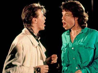 David Bowie y Mick Jagger. Foto: Mirror.uk