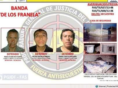 """Banda de secuestradores """"Los Franela"""" Foto: Cortesía PGJDF"""