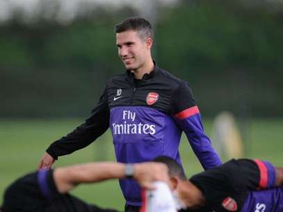 Robin van Persie of Arsenal during a training session at London Colney on July 20, 2012 in St Albans, England.  Foto: Getty Images