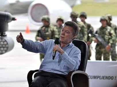"""""""Hemos avanzado muchísimo y no podemos cambiar de rumbo"""", dijo Santos sobre la seguridad. Foto: Mauricio Orjuela/Mindefensa."""