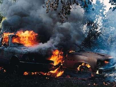 Los Caballeros Templarios quemaron al menos 30 autos y provocaron un caos en la ciudad. Foto: THINKSTOCK