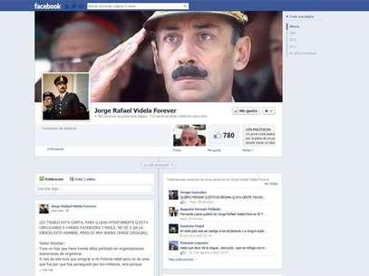 """La página """"Jorge Rafael Videla Forever"""" también es polémica por sus comentarios. Foto: DIFUSION/FACEBOOK"""