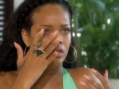 Rihanna en la entrevista con Oprah Foto: Reproducción