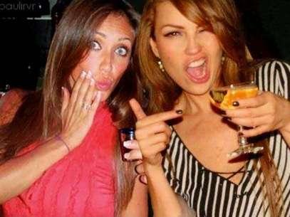 Thalía y Anahí un dúo bien caliente. Foto: Twitter Oficial Thalía