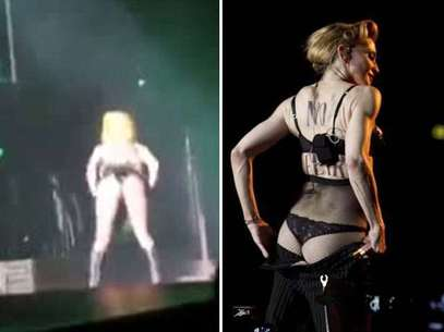 """Lady Gaga copia a Madonna enseñando """"derriere"""" en concierto Foto: Reproducción"""