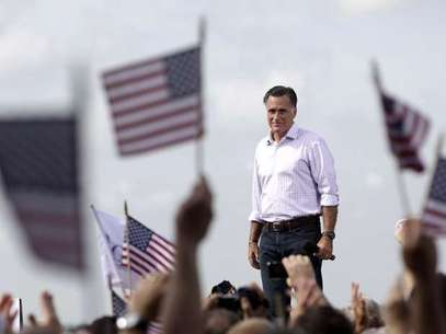 El candidato presidencial republicano Mitt Romney durante un acto de campaña en Lakeland, Fla. Foto: AP