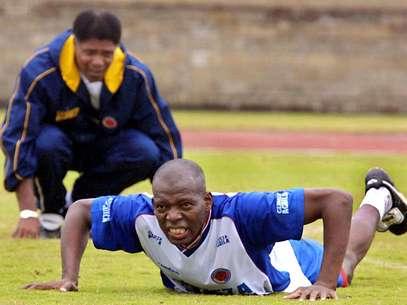 Francisco Maturana junto a Faustino Asprilla, en un entrenamiento de Selección Colombia en Barranquilla Foto: AFP