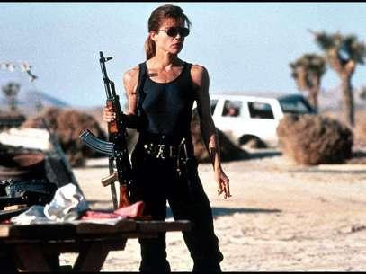 "Linda Hamilton como Sarah Connor en ""Terminator"". Foto: Reproducción"