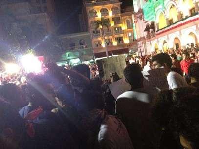 #YoSoy132 realizó este 15 de septiembre una jornada de protestas en el marco del 202 aniversario de la Independencia de México. Foto: @Soy132Veracruz / Tomada de Twitter