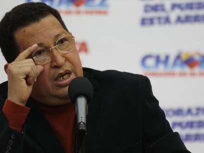 """Chávez advirtió a la oposición que """"no se les ocurra tratar de desestabilizar al país"""" y les auguró el fracaso de intentar un """"plan B"""". Foto: AP"""